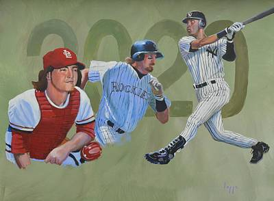 Sports Paintings - 2020 MLB Hall of Fame by Steve Lappe