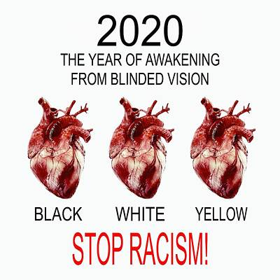 Vintage College Subway Signs Color - 2020 Stop Racism by Marianna Mills