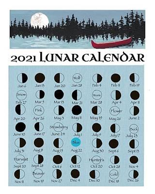 Painting - 2021 Lunar Calendar - 1 by Debbie Axiak