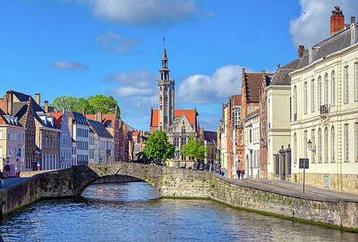 Thomas Kinkade Rights Managed Images - The canals of Bruges, Belgium Royalty-Free Image by James Byard