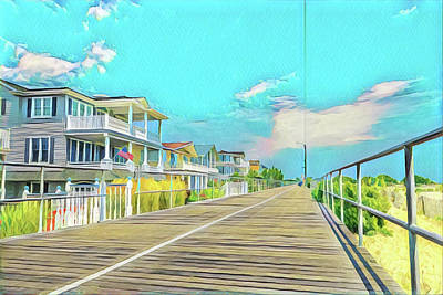 Surrealism Royalty-Free and Rights-Managed Images - 22nd and The Boardwalk by Surreal Jersey Shore