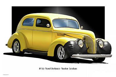 Urban Abstracts - 1938 Ford Tudor Sedan by Dave Koontz