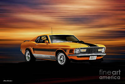 Tina Turner - 1970 Ford Mustang Mach 1 by Dave Koontz