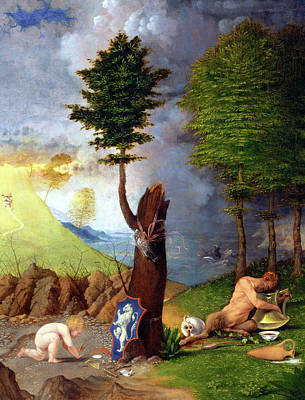 Painting Royalty Free Images - Allegory of Virtue and Vice Royalty-Free Image by Lorenzo Lotto