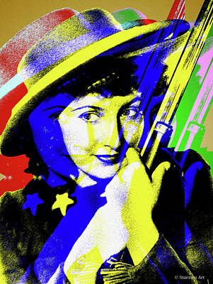 Royalty-Free and Rights-Managed Images - Barbara Stanwyck by Stars on Art