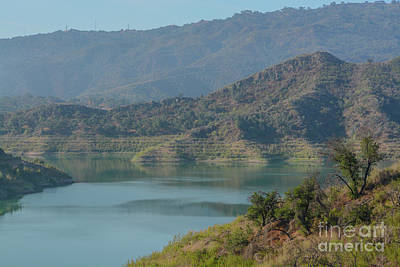 Namaste With Pixels Royalty Free Images - Beautiful Lake Casitas in the rugged mountains of Ventura, Ventura County, California Royalty-Free Image by Norm Lane