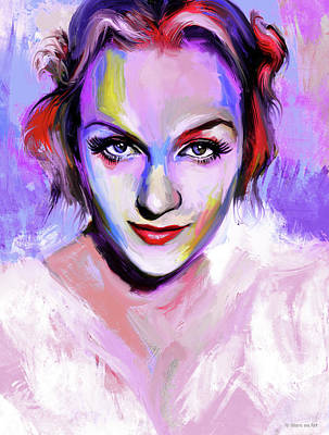 Royalty-Free and Rights-Managed Images - Carole Lombard by Stars on Art