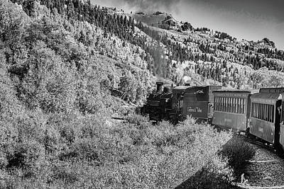 Priska Wettstein Pink Hues Royalty Free Images - Cumbres and Toltec Narrow Gauge Railroad Royalty-Free Image by Gestalt Imagery