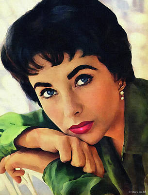 Digital Art Royalty Free Images - Elizabeth Taylor Royalty-Free Image by Stars on Art