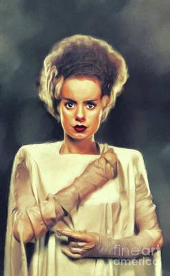 Royalty-Free and Rights-Managed Images - Elsa Lanchester, Vintage Actress by Esoterica Art Agency