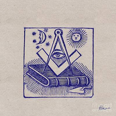 Outdoor Graphic Tees - Freemason Symbol by Pierre Blanchard