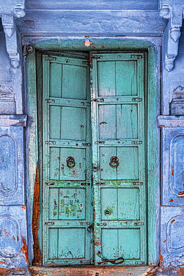 Keith Richards - Grungy Wooden Double Doors by Glen Allison