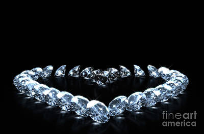 Catch Of The Day - Heart Array Of Diamonds by Allan Swart