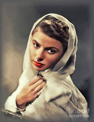 Royalty-Free and Rights-Managed Images - Ingrid Bergman, Vintage Actress by John Springfield