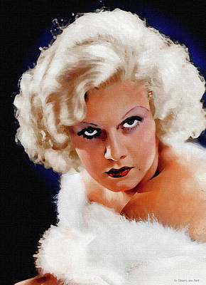 Vesna Antic Abstract Paintings - Jean Harlow by Stars on Art