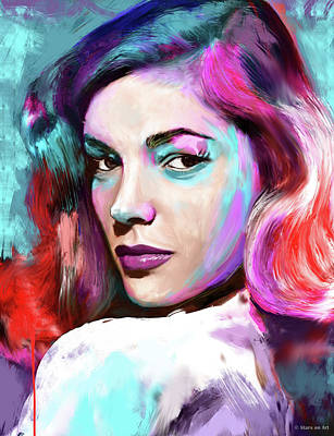 Pop Art Rights Managed Images - Lauren Bacall Royalty-Free Image by Stars on Art