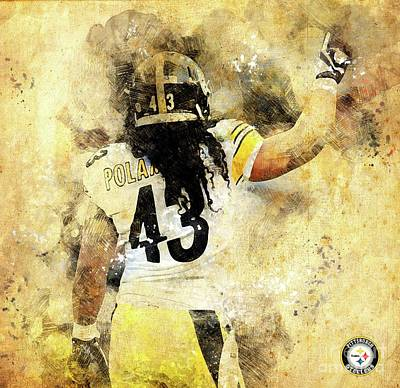 Recently Sold - Sports Royalty-Free and Rights-Managed Images - Pittsburgh Steelers NFL American Football Team,Pittsburgh Steelers Player,Sports Posters for Sports  by Drawspots Illustrations