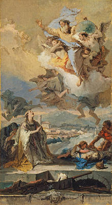 Painting - Saint Thecla Praying For The Plague-stricken 4 by Giovanni Battista Tiepolo