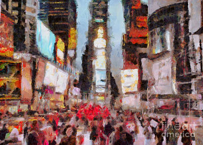 Modern Man Surf - Times Square by Bruce Rolff