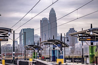 Fleetwood Mac - Charlotte north carolina city skyline and downtown by Alex Grichenko