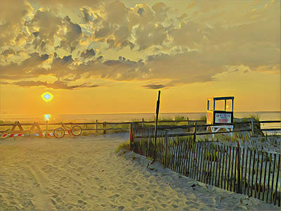 Surrealism Royalty-Free and Rights-Managed Images - 3rd Street Beach Sunrise by Surreal Jersey Shore