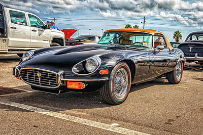 Photograph - 1973 Jaguar XKE E-Type Convertible by Gestalt Imagery