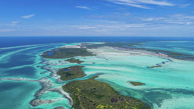 Photograph - Aerial View Island Landscape Los Roques by Organizacion Bluewater