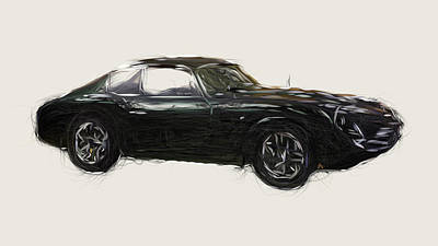 Polaroid Camera - Aston Martin DB4 GTZ Drawing by CarsToon Concept