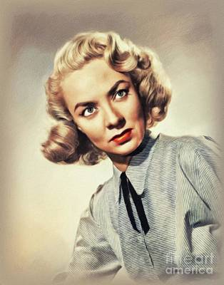 Door Locks And Handles - Audrey Totter, Vintage Actress by John Springfield