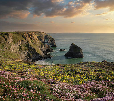 Pasta Al Dente - Beautiful landscape image during Spring golden hour on Cornwall  by Matthew Gibson