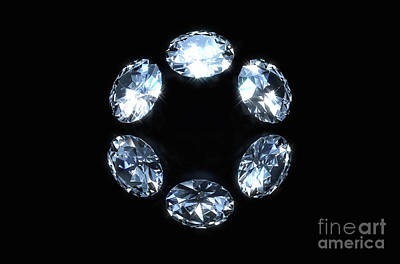 Catch Of The Day - Circle Array Of Diamonds by Allan Swart