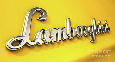Royalty-Free and Rights-Managed Images - Classic Lamborghini Emblem by Allan Swart