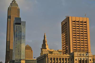 Pop Art Rights Managed Images - Cleveland City Skyline Royalty-Free Image by Douglas Sacha