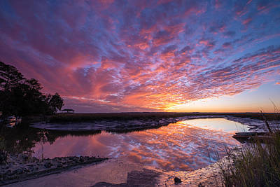Pop Art Rights Managed Images - Demere Creek Sunset Royalty-Free Image by William Harrell