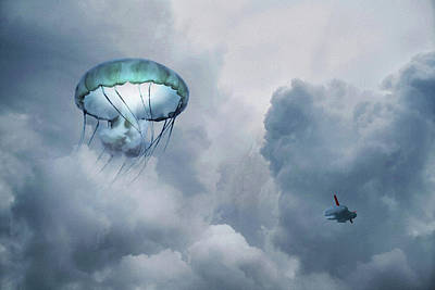 Surrealism Royalty Free Images - Fantasy - Surreal - Weird - in watercolor  Royalty-Free Image by Celestial Images