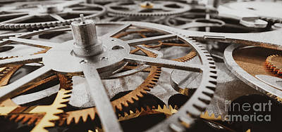 Have A Cupcake - Gears and cogs in clockwork watch mechanism.  by Michal Bednarek