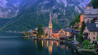 Photograph - Hallstatt is a village in the Salzkammergut, a region in Austria by Henk Meijer Photography