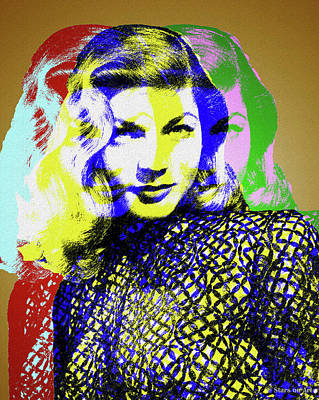 Royalty-Free and Rights-Managed Images - Lauren Bacall by Stars on Art