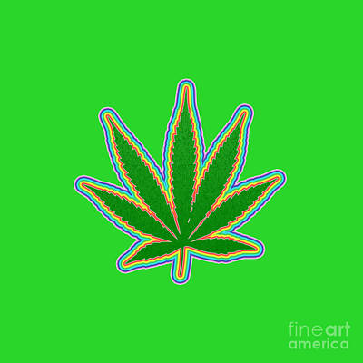 Royalty-Free and Rights-Managed Images - Marijuana Leaf by Bruce Rolff