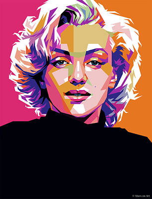 Modern Man Air Travel - Marilyn Monroe by Stars on Art