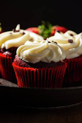 Vermeer Rights Managed Images - Red Velvet Cupcakes Royalty-Free Image by Rob Downer