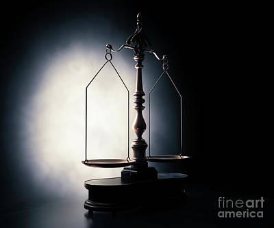 School Teaching - Scales Of Justice by Allan Swart