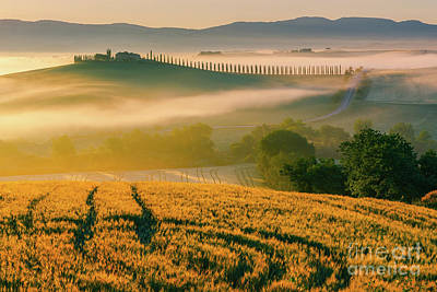 Photograph - Sunrise at Agriturismo Poggio Covili by Henk Meijer Photography
