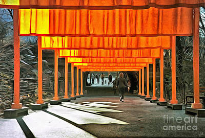 Photograph - The Gates Art Installation in Central Park by artists Christo an by Nishanth Gopinathan