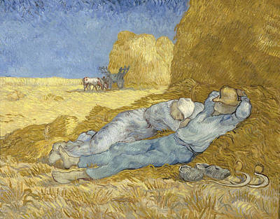 Water Droplets Sharon Johnstone - The Siesta - after Millet by Vincent van Gogh