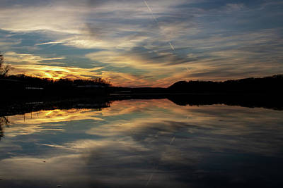Fine Dining - Sunset over Lake of the Ozarks by Laura Simpson