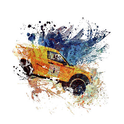 Sports Royalty-Free and Rights-Managed Images - 4x4 Off Road Rally Car by All Sport Art