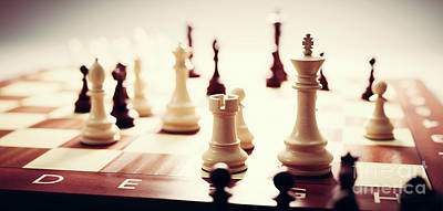 Personalized Name License Plates - Chess game. Strategic desicion making. Plan and competition by Michal Bednarek