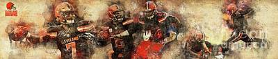 Drawings Royalty Free Images - Cleveland Browns NFL American Football Team,Cleveland Browns Player,Sports Posters for Sports Fans Royalty-Free Image by Drawspots Illustrations