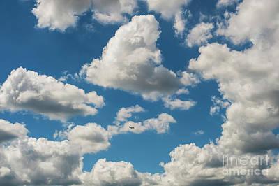 Lucille Ball - Cumulus Clouds in Blue Sky by Jim Corwin